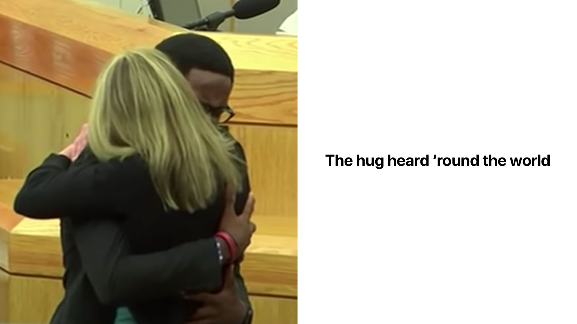 The Hug Heard 'Round The World